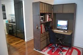 Tiny home office Small Apartment Foldable Storage Unit Could Become Fully Functional Home Office When Necessary 57 Cool Small Home Office Ideas Alrio Alrioinfo