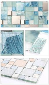 Mirror Tile Backsplash Kitchen Best Modern Sale 11sheetsblue Sea Glass Kitchen Tiles Bathroom