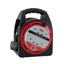 ace cable reel 10m with 4 closed sockets