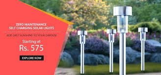 Light  Outdoor Garden Stainless Steel Solar Lights Set Of 24 Solar Outdoor Lights India