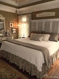Decorating Master Bedroom No Cost Decorating Master Bedroom Love The Shutter Headboard