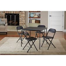 Cosco 5 Piece Card Table Set Black Walmart Com Cosco Card Table And Chair Sets