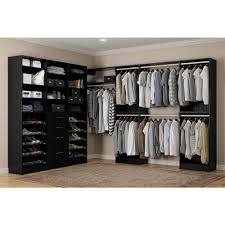calabria walk in 15 in d x 243 in w x 84 in h espresso wood closet system