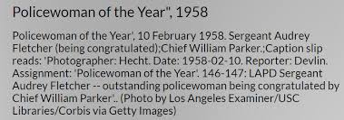 Remembering One of LAPD's Finest- Sgt. Audrey Fletcher: A Woman Who Would  Be Chief - Steve Hodel