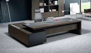 office table design. Latest Table Design For Office Reception Tables Stylish Larry In Wood Amp Leather Boss S Cabin Corner C