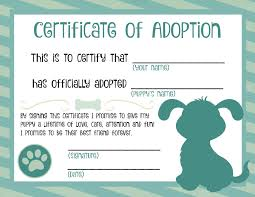 dog birth certificates dog birth certificate printable new adoption certificate template