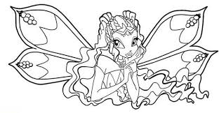 Small Picture The Guardian Fairy of Nature Winx Club Coloring Pages Batch Coloring