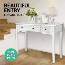 hallway console table. Hall Console Table Hallway Side Entry Timber Wooden French 3 Drawers White