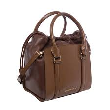 Overstock Designer Handbags Burberry Dinton Small Brown Leather Tote Overstock
