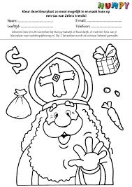 Sinterklaas Kleurplaat Actie Humpy