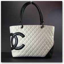CHANEL Cambon Ligne Quilted Large Tote Bag Purse White - Polyvore & CHANEL Cambon Ligne Quilted Large Tote Bag Purse White Adamdwight.com