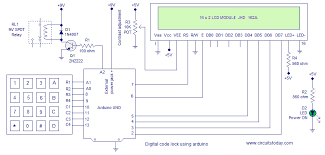 digital code lock lcd display and user defined password code lock using arduino
