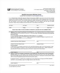 health insurance waiver form template medical waiver template