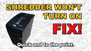 Fellowes Ps 67cs Shredder Red Light Shredder Wont Turn On Fix