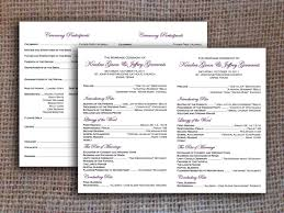 Microsoft Wedding Program Templates Free One Page Wedding Program Templates For Microsoft Word Klejonka