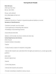 Cv Primary School Teacher School Teacher Resume Format High School Teacher Resume School