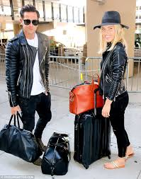 stylish pair the 28 year old was joined by r aaron renfree and