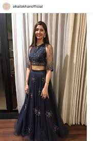 Designer Long Skirts Party Wear Images Illusion Sleeves Lehenga Designs Indian Outfits Designer