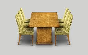 art deco era furniture. W255 DINING TABLE 7ft X 3ft 3in: Burr Poplar. W213cm/84in D99cm/39in H76cm/30in Art Deco Era Furniture