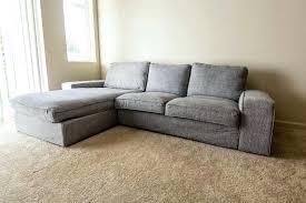 ikea kivik sofa grey custom used sofa with chaise lounge in mill creek ikea kivik sofa