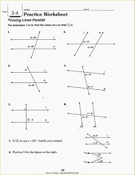 geometry worksheets parallel and perpendicular lines worksheets 1050167