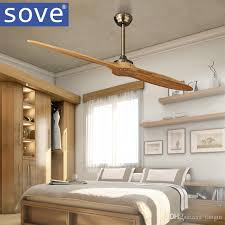 2018 sove simple village nordic wooden blade dc ceiling fan with remote control attic dining room without light fan 220v ventilador de teto from i