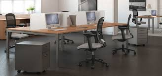Office desk solutions Chic Quad Office Bench Pod With Grey Chairs Cool Mom Tech Desk Solutions For Offices Radius Office Ireland