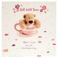 Get Well Card Teddy Bear Get Well Soon Card