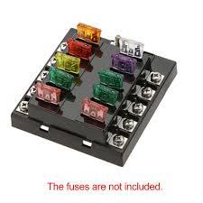 best high quliaty univesal car fuse box 10 way circuit 32v dc 10 way blade fuse box holder high quliaty univesal car fuse box 10 way circuit 32v dc waterproof blade car fuse holder