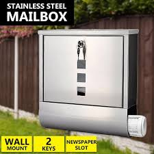 mail box wall mount stainless steel post newspaper letterbox letter mailbox letterboxes mail box wall mount letter mailbox with 114 29 piece on