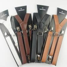 2016 fashion men leather suspenders belt pu leather clip on men women braces suspenders 2 3cm width suspenders corsets from xinstar 9 95 dhgate com