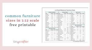 1 12 scale miniatures common furniture