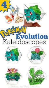 pokemon evolution diy paper toys kaleidocycle