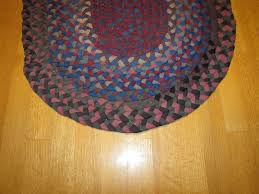 pair of american folk art braided rugs rr350