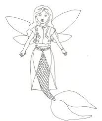 Nobby Design Fairy Mermaid Coloring Pages Free Fairy Fantasy ...