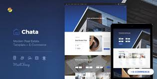 Chata Modern Real Estate Architecture Template E Commerce