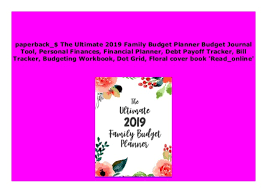 online family budget p d f_epub the ultimate 2019 family budget planner