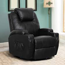 Esright Massage Recliner Chair Heated PU Leather ... - Amazon.com
