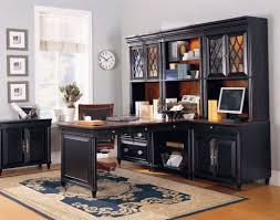 wood home office desks. Furniture. Beauteous Image Of Home Office Decoration Using Black Wood Cabinet Modular Desk Desks