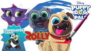 Small Picture Coloring Pages for Kids Puppy Dog Pals Disney Junior YouTube