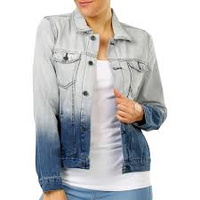 the 1964 denim company women s ombre denim jacket blue