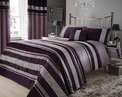 Super King Duvet Cover Bedding Set ~ Tokida for . & Super King Plum Purple Metallic Effect Detail Quilt Duvet . Adamdwight.com