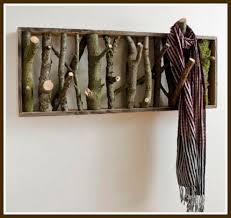 Cottage Coat Rack DIY Twig Coat Rack Content In A Cottage 1