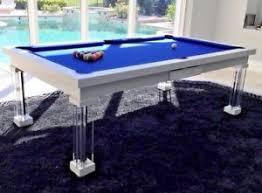 Image Rollover Pool Image Is Loading Luxuryconvertiblediningpooltablebilliarddiningdesk Ebay Luxury Convertible Dining Pool Table Billiard Dining Desk Fusion