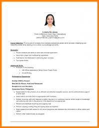 6 Resume Career Objective Sample Packaging Clerks