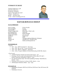17 Example Of A Formal Curriculum Vitae Defaulttricks Com