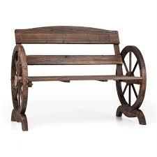 ammergau garden bench wagon wheel