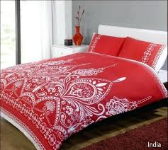 red duvet white cover set available in single double king size covers argos