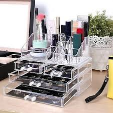 image is loading cosmetic organizer drawers clear acrylic jewellery box makeup