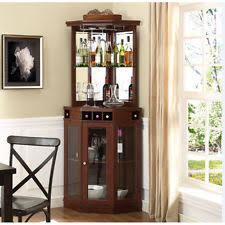 corner bars furniture. Corner Bar Cabinet Wine Bottle Storage Stemware Rack Liquor Home Pub Furniture Bars E
